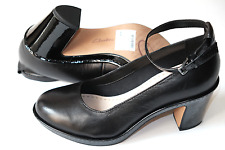 Clarks Dulcie Maisie Black Leather Ladies shoes heels 4.5/37.5 D