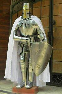 Medieval Armor Suit Sword Knight Suit Of Armor Templar Combat Full Body Armor