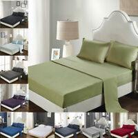 Egyptian Comfort 1800 Count 4Piece Bed Sheet Set Soft Deep Pocket Bedding Sheets