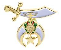 Shriners Sword Star Logo Hat or Lapel Pin F3D1E