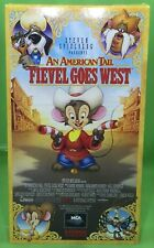 AN AMERICAN TAIL: Fievel Goes West VHS 1991 Full Length Animated