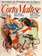 CORTO MALTESE PRATT N°12 1989 RIVISTA MENSILE FUMETTI