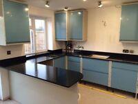 Cararra granite and marble kitchen Quartz worktops-Full Length Handmade Unique