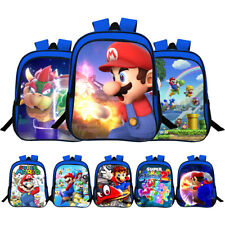 3D Super Mario Bro Student Backpack Unisex School Bag Children Kids Shoulder Bag