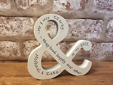 Personalised Wedding or anniversary gift Wooden & 12cm tall