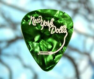 New York Dolls // Concert Tour Guitar Pick // Green Planet Waves