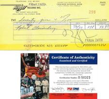 Frank Zappa Signed Autographed Check w/Photo & 45 Record PSA/DNA #B50323