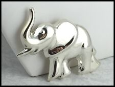 VINTAGE .925 Sterling Silver, Decorative Elephant Brooch / Pin, Mexico