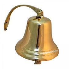 Nautical Solid Brass Maritime Antique Ship & Titanic Bell Hanging Wall Decor