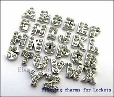 26pcs A-Z Crystal Letters Floating Charms For Living Memory Locket Free Shipping