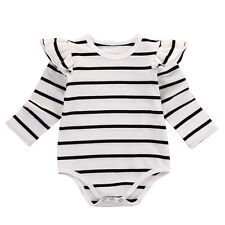 0-3M Infant Kids Baby Boy Girl Cotton Romper Jumpsuit Bodysuit Clothes Outfit