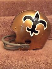Wilson Vintage Old F2002 Suspension Football Helmet 1970s New Orleans Saints