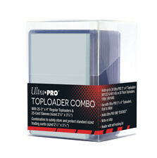 Ultra Pro Card Storage Combo Pack Toploader Box Plus 25 Toploaders and Sleeves