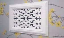 Victorian Plaster Air vent -Vent Cover - 304mm X 216mm x 15mm .(fretwork)