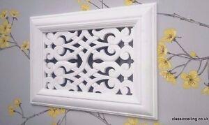 Victorian Plaster Air vent -Vent Cover - 304mm X 216mm x 15mm .(fretwork)