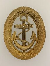 Vintage WWII German Kriegsmarine Navy Officer of the Watch Metal Badge w. lugs