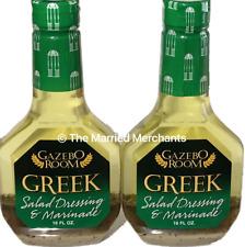 2) Gazebo Room Greek Salad Dressing & Marinade 16 oz ea Gluten Free 2021 Fresh!