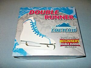 (NEW) Lake Placid Double Runner Youth Easy-Learning Beginners Ice Skates Size 11