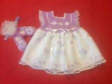 Newborn Baby Girl Dress Set -  Lilac & White