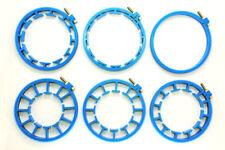 Cinematics Follow Focus Gear Ring set 6pcs 60~116mm for DSLR lens rig rail Blue