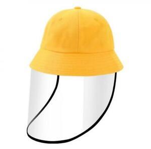 Cute Detachable Full Face Shield Fisherman Hat Anti Spitting Bucket Cap For Kids