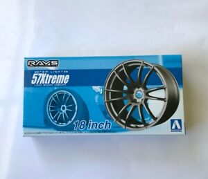 Aoshima RAYS Gram Lights 57XTREME Wheels & Tyres 18 inch 1/24 1:24 tuned parts