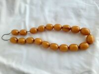 Vintage Butterscotch Amber Bakelite Catalin Necklace 61.4 grams