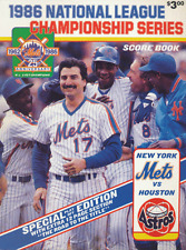 1986 NLCS Program & Scorecard. Astros vs. Mets.
