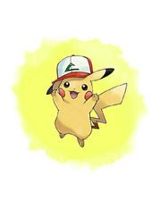 Pokemon 20th Movie - I Choose You Ash Pikachu (Kanto Hat) 6IV-EV Trained
