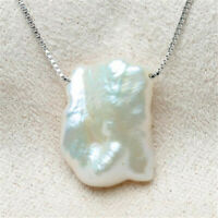 Fashion White petals Baroque Pearl Pendant Necklace accessories Mesmerizing