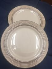 Set Of 2 Thomson Pottery BIRCH Dinner Plates 7424135 Brown