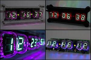 NADIA Desk Clock 6x IV-22 VFD Tubes + Case + RGB + Remote + Power NIXIE ERA!