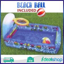 Sunny Pool Set, Kids Pool with Basketball Hoop, Toddler Pool, Baby Splasher Pool