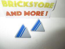 Lego - 2x Road Sign Clip-on 2x2 Triangle Set 7868 892pb018L + 892pb018R