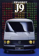 Catalogue prospekt brochure Peugeot J9 1988 épais 1re version