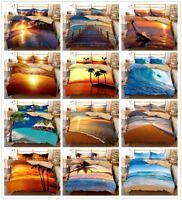 3D Ocean Beach Sunshine Sunset Bedding Set Duvet/Quilt/Doona Cover Pillowcase
