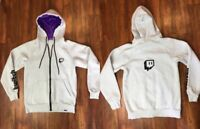 Twitch White Zip Hoodie Jacket Size Small By Twitch Spell Out