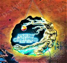 """New Hard Cider Angry Orchard 3D Led Neon Light Sign 17"""" Beer Bar Wall Decor Gift"""