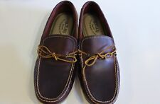 Eastland Leather Shoes Size 12 Moccasin Deck Boat Yarmouth Brown Retail $100 NEW