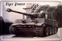Tanque Acorazado Tigre Letrero de Metal Arqueado Tin Sign 20 X 30CM