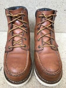 Red Wing 2296 Heritage Moc Brown Leather Aluminum Toe Work Boot Size 6.5 D
