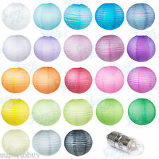 "10 Pack  8"" 10"" 12"" 14"" 16""  Paper Lantern + LED light Decoration Wedding party"