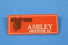 HOOTERS RESTAURANT GIRL ASHLEY ORANGE NAME TAG / PIN - Waitress Pin