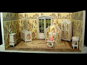 Exquisite 1/48th 1:48 quarter scale doll house room box  by Celia Mayfield