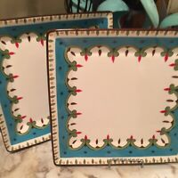 Sophia Home Accents Set Of Two Square Dinner Plates