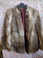 Genuine Antique Rabbit Fur Jacket Size 8-10
