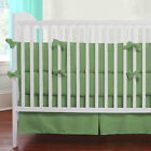 Unisex Crib Bedding set 5 Piece Fitted Pillowcase Comforter Bed Skirt Bumper Set