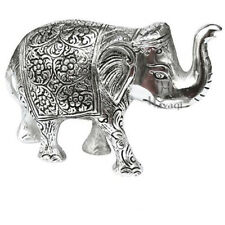Home and gurden Decor,Gift Item, pure oxidized white metal Elephant, 5.5X3.5 inc