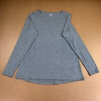 Old Navy Women's Size Medium Carbon Ultra Lite Long-Sleeve Performance Top NWT