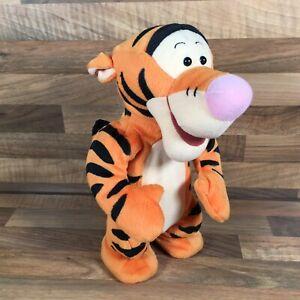 """Disney Talking Bouncing Tigger Jumping Plush Mattel 1998 12"""" Toy Works Great"""